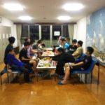夜のミーティング夜食
