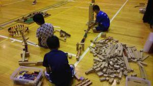 積み木で創作